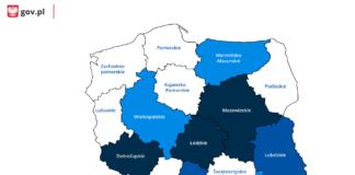 Mapa zakażeń koronawirusem