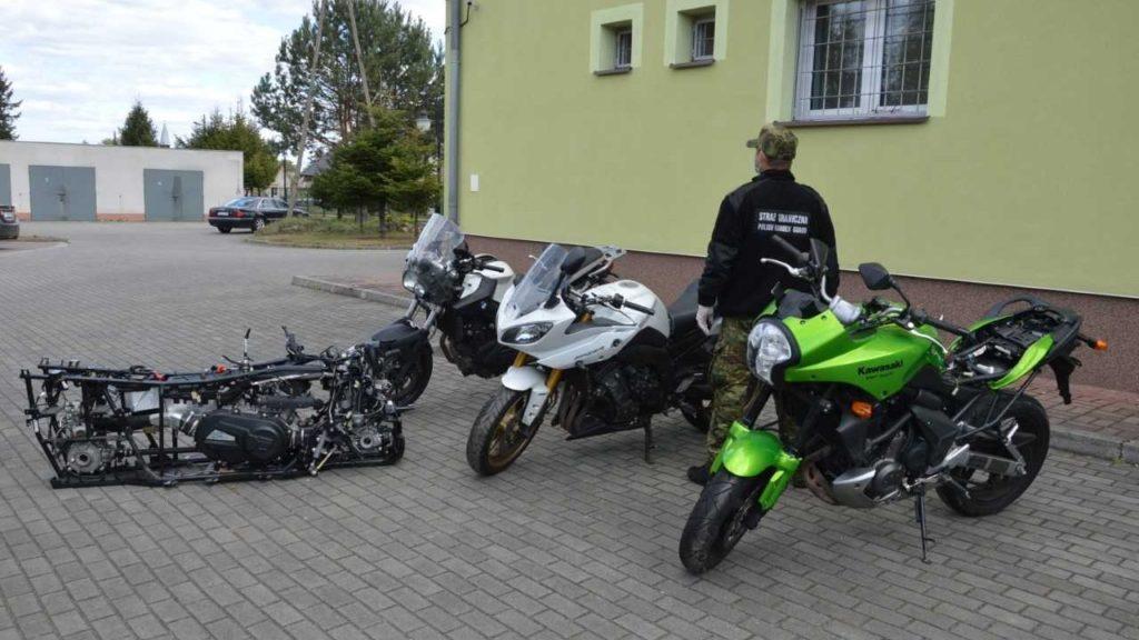 Transport kradzionych motocykli zatrzymany na przejściu w Olszynie 1