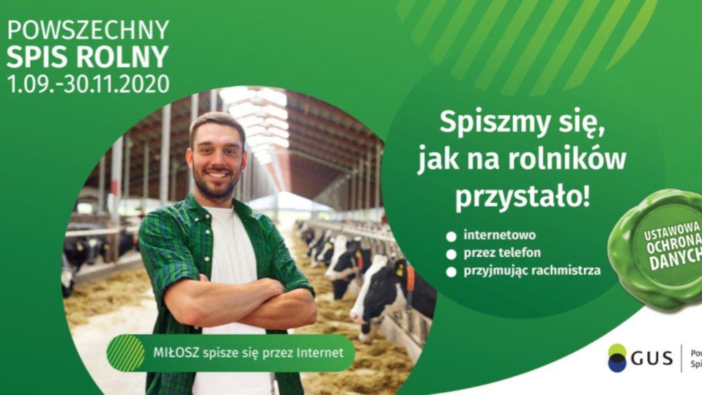 Powszechny Spis Rolny 2020 rusza już 1 września. Spisz się jak na rolnika przystało. 1