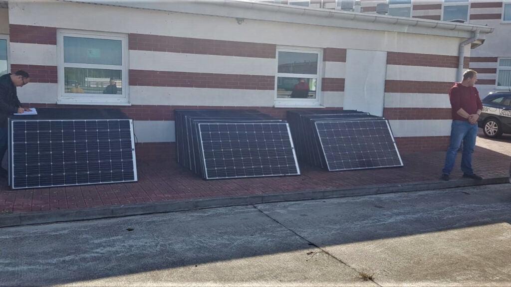 kradzione panele słoneczne