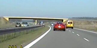 Ferrari na drodze ekspresowej S3 w woj. lubuskim