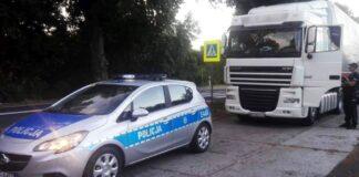 Kontrola drogowa ciężarówki, Drzecin