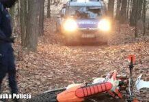 Wypadek na motocrossie w Trzebielu