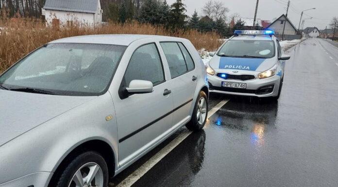 Kontrola drogowa Volkswagena
