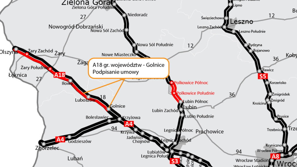 Autostrada A18 będzie gotowa za 2 lata. Podpisano umowę na przebudowę ostatniego odcinka słynnej Patatajki