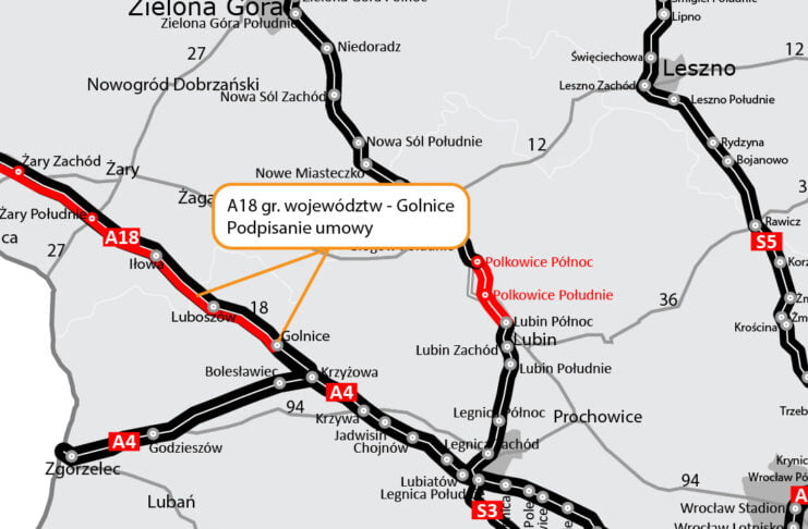 Budowa autostrady A18