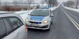Kontrola drogowa w Osiecznicy