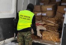 Prawie 2 tony tytoniu przechwycone przez Straż Graniczną z Tuplic