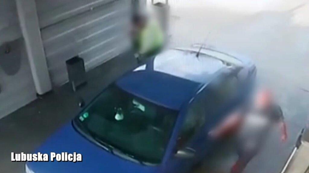 Zuchwała kradzież samochodu z myjni. Wszystko zarejestrował monitoring [wideo]