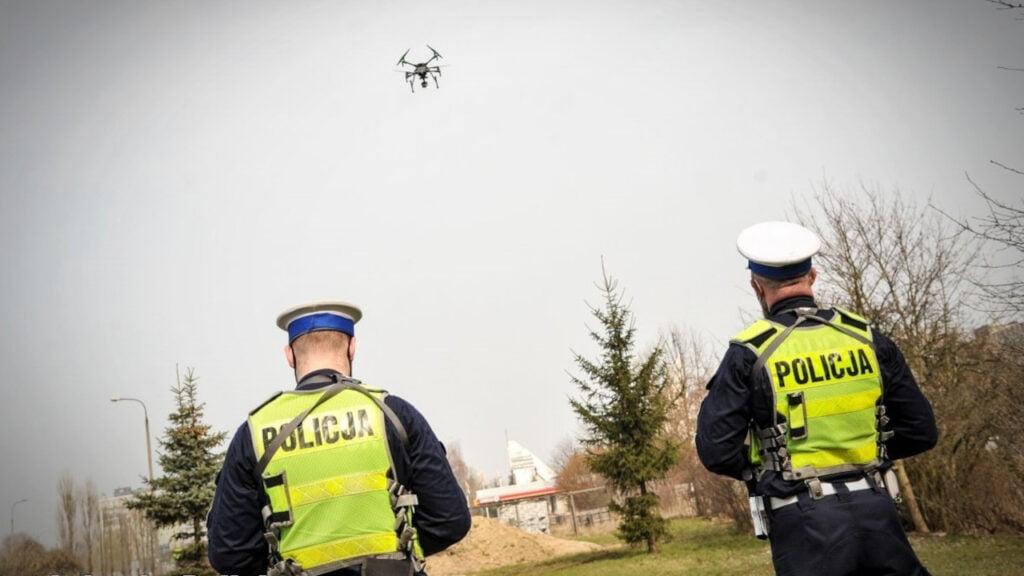 Lubuska policja kontroluje kierowców z drona