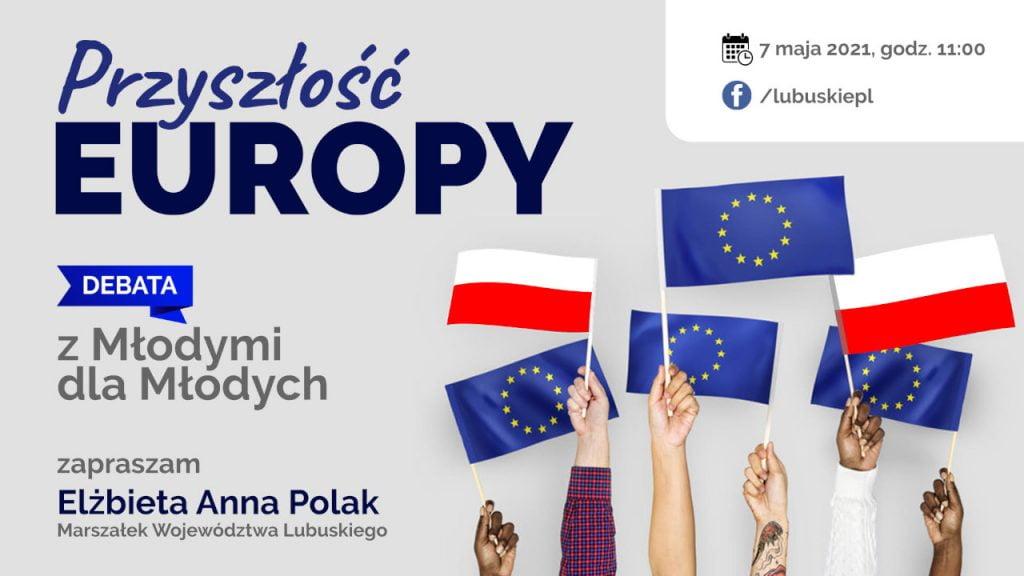 Debata Przyszłość Europy - z młodymi dla młodych (plakat)