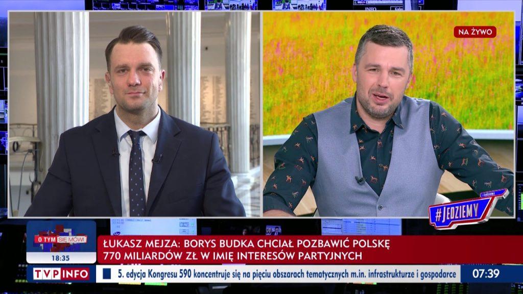 Łukasz Mejza w programie #Jedziemy TVP Info