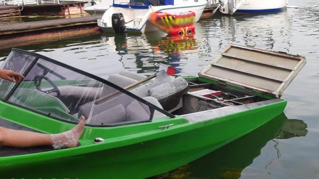 Na jeziorze Lubiąż eksplodowała motorówka
