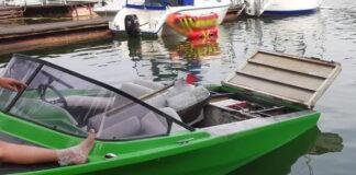 Eksplozja motorówki na jeziorze Lubiąż