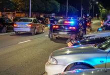 Nielegalne wyścigi samochodowe w Słubicach